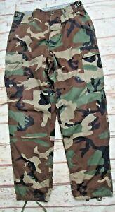 Vintage US Army woodland camouflage Ripstop BDU combat trousers Medium Regular