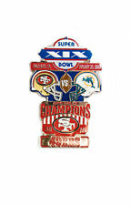 Super Bowl XIX (19) Commemorative Lapel Pin San Francisco 49ers v Miami Dolphins