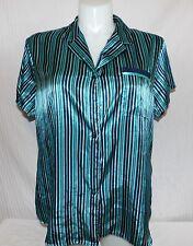 Liz Claiborne Black and Blue Stripe Blouse Size XXL