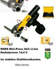 REMS Mini-Press ACC Li-Ion Radialpresse 14,4 V.  Basic-Pack