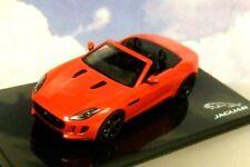 SUPERB IXO 1/43 DIECAST JAGUAR DEALER MODEL 2013 JAGUAR F-TYPE V8 S IN SALSA RED