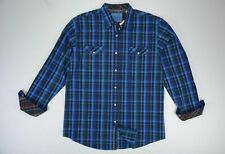 Men's Age Of Wisdom size XL Blue Long Sleeve Button Up Cotton Shirt NEW NWT