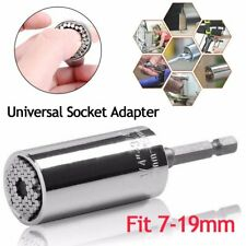7-19mm Grip Universal Socket Wrench Spanners Ratchet Power Drill Adapter Tool