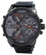 Diesel Daddies Gunmetal IP Chronograph Four Time Zone Dial DZ7315 Men's Watch