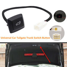 Car Rear Trunk Lock Door Electric Tailgate Trunk Release Switch Button Red Light