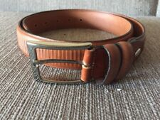 """Bench Craft 35mm Brown Leather Mens Dress Belt Sz 34 Style 6067 Canada 1 3/8"""""""