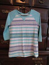 Girls Cherokee Striped 3/4 sleeve Shirt XL 14 16