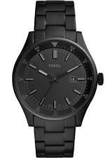 Fossil Men's Belmar FS5531 44mm Black Dial Stainless Steel Watch