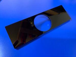 52mm single gauge DIN facia panel for dash board radio slot GLOSS BLACK