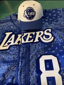 ANY TEAM! Customizable Blue Paisley Bandana Print  Los Angeles Lakers Throwback
