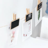 10pcs Wooden Blackboard Clips Note Folder Photo Mark Chalkboards Clips Supplies