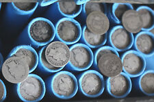 VINTAGE SILVER BARBER DIME WHEAT CENTS ROLL US COIN LOT ESTATE SALE LIQUIDATION
