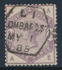 1884 GB QV 3d LILAC USED SG191 LETTERS 'AE'