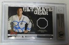 Royce Gracie Signed UFC 2009 Topps Round 1 Ultimate Gear Relic Card BAS COA /500