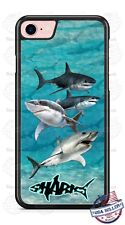 Great White Sharks in Ocean Phone Case Cover For iPhone Samsung Google LG