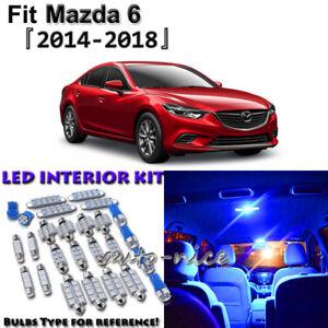 11x Blue Interior LED Lights Package Kit for Mazda 6 Sedan Hatchback 2014 - 2018