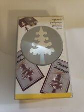 Ek Success Large Forest Tree Craft Punch Christmas Cards Winter Camping Scouting