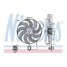 Genuine Nissens Engine Cooling Radiator Fan - 85748