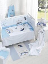 Edredón de Cuna + Protector + Cojín Volamos Baby Azul+ Regalo Juego Peines