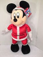 """NWT-HTF-RARE-26"""" Gemmy Toy Plush Mickey Mouse Sings """"DECK THE HALLS""""-WORKS 100%"""