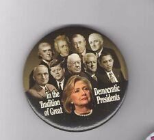 2016 pin HILLARY Clinton TRUMAN John KENNEDY Franklin ROOSEVELT FDR JFK #2