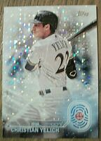 CHRISTIAN YELICH - 2020 TOPPS SERIES 2 2030 SPARKLE INSERT - MILWAUKEE BREWERS
