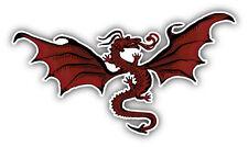 Red Dragon Car Bumper Sticker Decal 6'' x 3''