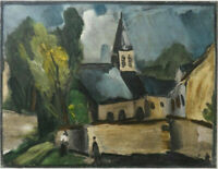 Maurice de VLAMINCK : Eglise à Bougival - LITHOGRAPHIE, 1958, Mourlot