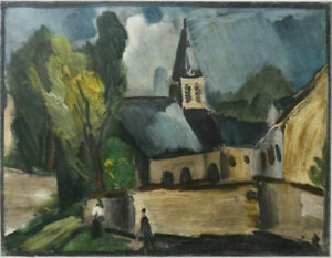 Maurice of Vlaminck: Eglise IN Bougival - Lithography, 1958 Per Mourlot