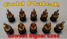 GOLD! - 10 RCA SHIELDED SHORTING CAPS PLUGS RF/EMI & NOISE CANCELING PROTECTION