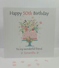 Personalised Handmade Wonderful Friend 40th 50th 60th Birthday Card Cousin