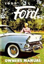 1955 Ford Owners Manual User Guide Reference Operator Book Fuses Fluids OEM