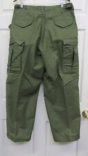 Vietnam Era US OD M65 OG 107 Field Pants Trousers 1975 Dated Medium Short NOS