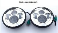 "7"" Inch Projector H4 LED Light Bulb Headlight for LAND ROVER DEFENDER NEW CHROM"