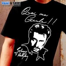 "Tee-Shirt Personnalisé Johnny Hallyday ""Quoi ma gueule !!"""
