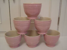 Le Creuset Stoneware Dessert Cups, Set of 6, Satin Pink, New