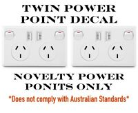 Portable Twin Power Point Decal