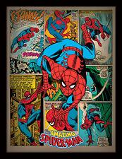 Spiderman Retro-incorniciato 30 x 40 Stampa Ufficiale