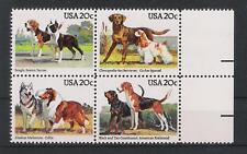 USA 1984 ** MNH Mi# 1708-11 Hunde dogs
