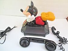 Vintage Mickey Mouse Push-button Telemania Disney Telephone by SAGAN 5698