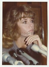 Jane Fonda - Vintage Candid Photograph by Peter Warrack - Previously Unpublished