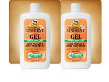 Pack 2 Bottles X 12 Oz Absorbine Veterinary Liniment Gel Topical Analgesic