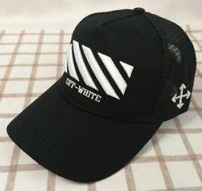 NWT Unisex Off White Cap Baseball Golf Cotton Adjustable Hat Black