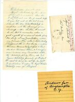 1870 Handwritten Letter Andrews genealogy Binghampton NY envelope Henry Sheldon