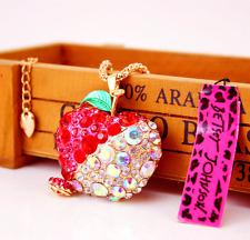 Pendant Betsey Johnson Chain Rhinestone Fruit Enamel golden long Necklaces Charm