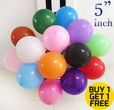 "5"" inch small latex balloons WHOLESALE party birthday 25 wedding all decoration"