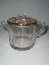 Clear Depression Glass 16 oz Coffee Pot Dripolator & Lid