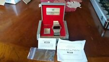 Vtg Hamilton QED Kojak LED Gold Filled Watch for Repair, W/ Magnet, BOX, PAPERS