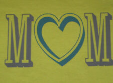 Womens Size S LIFE IS GOOD Heart Mom S/S Tee Shirt on Green NWT