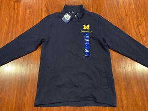 Champion Women's Michigan Wolverines 1/4 Zip Navy Pullover Jacket Large L NCAA